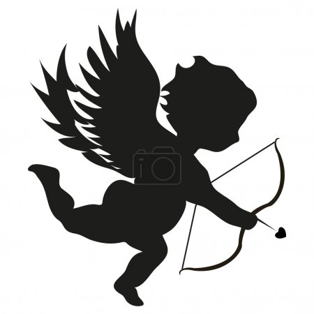 Cupid on white background