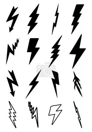 Thunder bolt icons