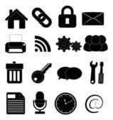 Simple black icon on white background