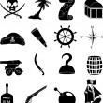 Постер, плакат: Pirates icons set