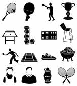 Black Tennis icons set