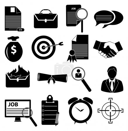 Employment icons set