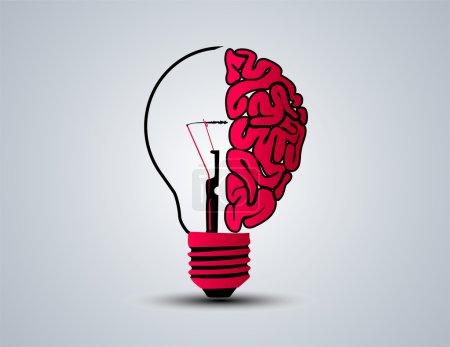 Illustration pour Illustration vectorielle d'ampoule d'idée - image libre de droit