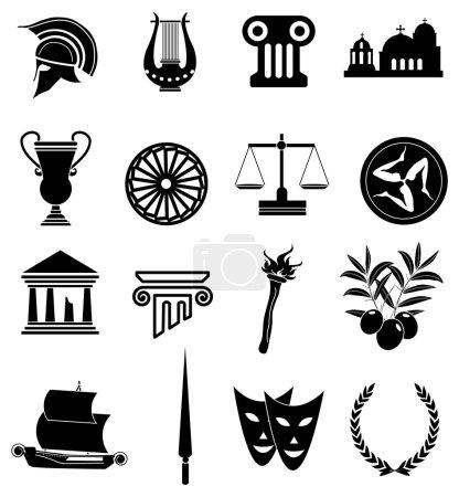 Rome Greek icons set