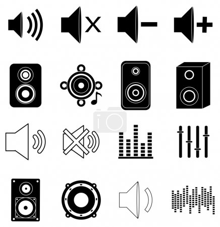 Music sounds icons set