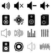 Music sounds icons set