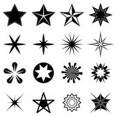 Stars icons set isolated on white background