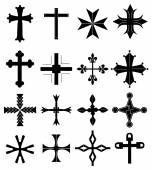 Cross icons set vector illustration