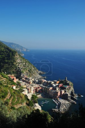 View over the Cinque Terre village