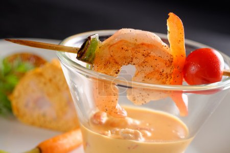 Healthy Shrimp cocktail salad
