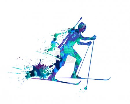 Ridge ski course biathlete Biathlon