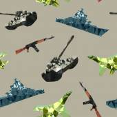 Vector seamless ornament - Russian military equipment