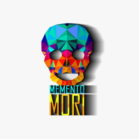 Skull. Inscription in Latin: (Remember about death) Memento Mori