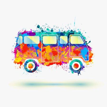 Vintage Hippie Camper bus.