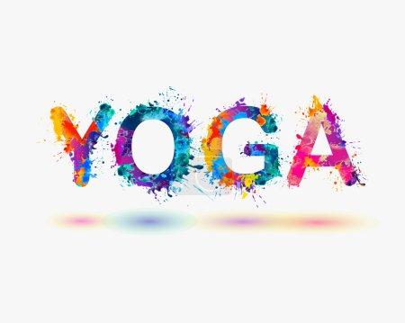 """Word """"YOGA"""". Rainbow splash paint"""