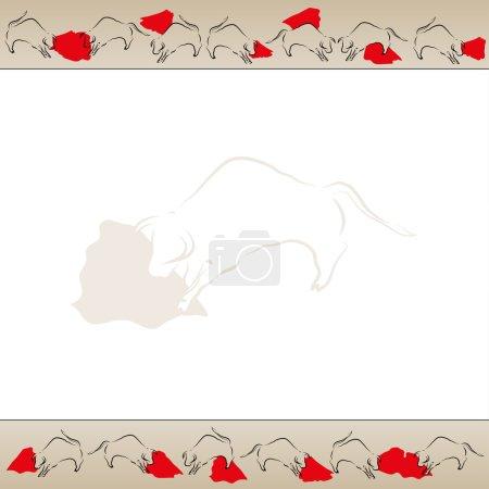 bullfight background frame vector