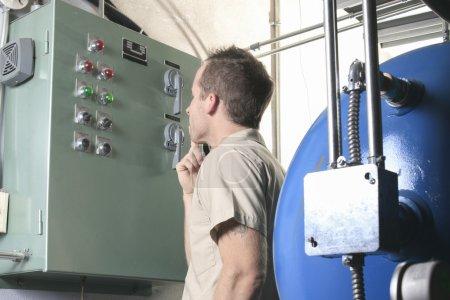 Air Conditioner Repair Man at work
