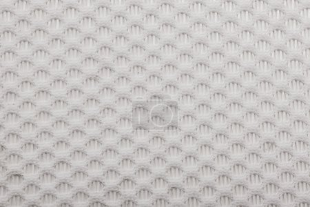 Shoes and clothing of mesh fabric texture