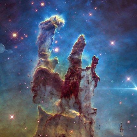 The Eagle Nebula's Pillars of Creation. Retouched ...