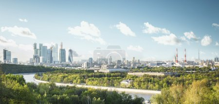 Photo for Panoramic view of Moscow city from Sparrow Hills, Russia - Royalty Free Image