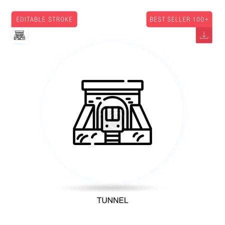 Photo pour Icône vectorielle plate tunnel. Illustrations vectorielles de métaphore de concept isolé. - image libre de droit