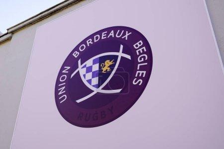 Bordeaux, Aquitaine France - 01 18 2021: ubb Rugby Bordeaux Gewerkschaft fordert Logo Marke und Textzeichen Frankreich