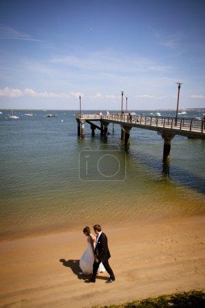 Cute happy couple on the beach...