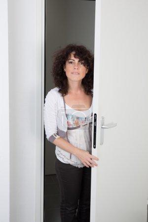 The door and woman