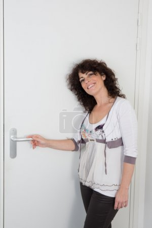 Woman at the door