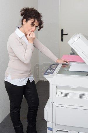 Businesswoman having trouble