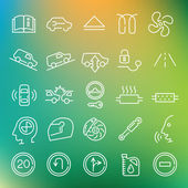 Vector clean icons set for web design and application user interface Made in flat graphic style Nice details and easily identifiable Ideal for clean design any size scale Useful  for car and transportation infographics