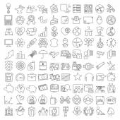 One hundred miscellaneous thin line icons set for web design and infographics