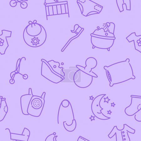 Seamless baby goods pattern