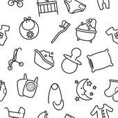 Seamless baby goods pattern
