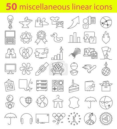 Miscellaneous  linear icons bundle