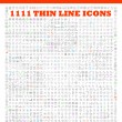 1111 thin line icons exclusive XXL icons set conta...