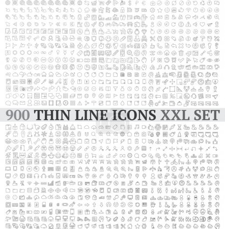 Linear icons exclusive XXL collection contains: un...