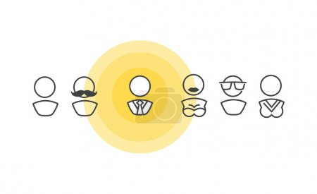 People icons on yellow circle