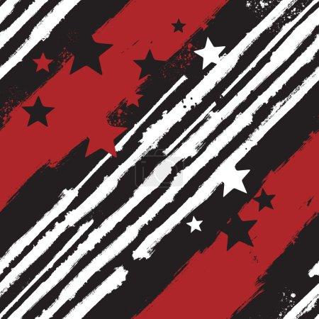 Illustration pour Modèle sans couture Vector Stars and Stripes pour la conception d'impression ou de fond web - image libre de droit