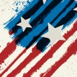 American flag styled abstract grunge background...
