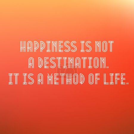 Inspirational Typographic Quote Vector - Happiness is a journey not a destination