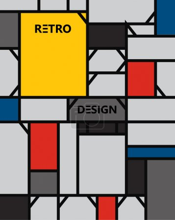 geometric abstract pattern de stijl art