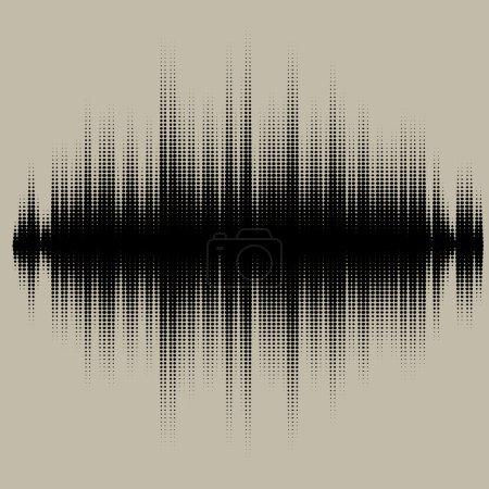 Illustration pour Ondes sonores vectorielles réglées. Technologie d'égaliseur audio, pulsation musicale. Illustration vectorielle du motif musical et de la texture - image libre de droit