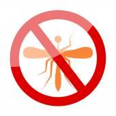 Zika Virus with mosquito over grunge graphic illustration