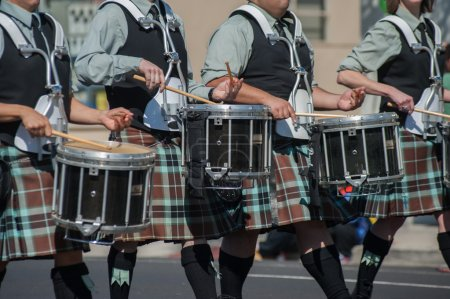 Photo for Irish drum line for the marching band. - Royalty Free Image
