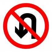 No U turn sign vector