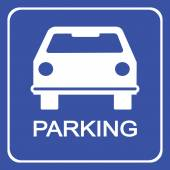 Car parking sign vector illustration and icon great for any use