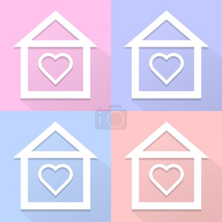Home icon vector and icon