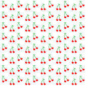 Seamless pattern with watercolor berry cherry Endless repeating print background texture Fabric design Vector illustration great for any use