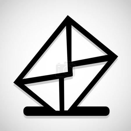 Vector mailbox icon, Illustration EPS10